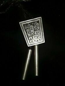 "Joseph Coriz Bolo Tie - ""Pueblo Prosperity"" Santa Domingo Designer Sterling 14K"