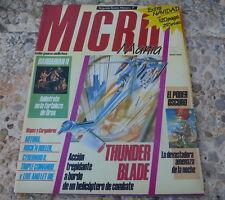 Revista MICROMANIA nº 7, 2ª época. Sinclair CBM MSX Amstrad SEGA NES Atari...