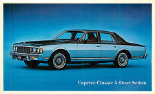 1979 CHEVROLET CAPRICE CLASSIC 4-DOOR SEDAN AUTOMOBILE ADV. CHROME P/C