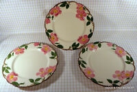 3 pcs FRANCISCAN earthenware DESERT ROSE pattern ~3 Dinner Plates ~ 10 1/2""