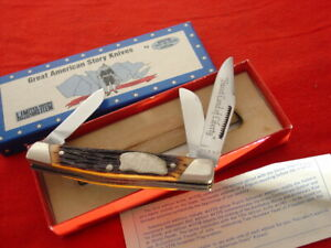 """Boker USA Made American Story 4"""" 13 Colonies Stockman 3 blade Stock Knife"""