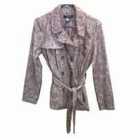 Sandro Sportswear Women's Brown Tie-Waist Double Breasted Blazer Jacket Size M