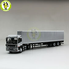 1/50 Isuzu Container Truck Trailer Diecast Model Car Silver Collection Gift