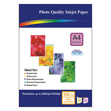 50 Sheets of Double-sided A4 130gsm High Quality Matte Photo Paper for Inkjet