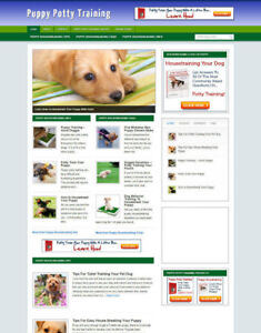PUPPY POTTY TRAINING TIPS WEBSITE & STORE WITH AFFILIATE OPTIONS & NEW DOMAIN