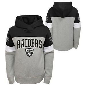 Outerstuff NFL Youth Boys (8-20) Oakland Raiders First & Ten Pullover Hoodie