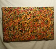 "Original signed acrylic abstract art . ""Silly String"""