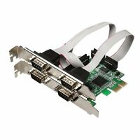 4 Ports DB9 RS232 RS-232 Serial to PCI-E Express Expansion Utility Card Adapter