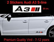 SET 2 ADESIVI AUDI A3 STICKERS quattro allroad S-line S3 S4