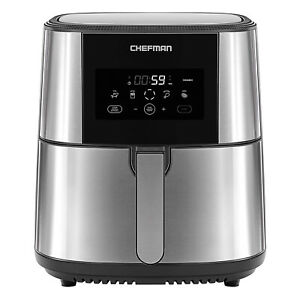 Chefman TurboFry XL 8 Quart Rapid Temperature Control Stainless Steel Air Fryer