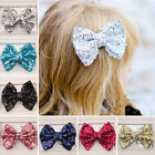 New Girl Clamp Bowknot Hairpin Kids'paillette bobby pin headband Hair Claw Clip