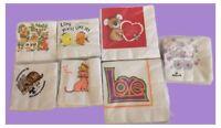 Vintage Paper Napkin Lot - 7 Packs - 130+ Napkins - Animals/Baby/Love/More