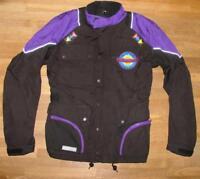 lange LEVIOR Herren- Motorrad- Jacke / Textil- Bikerjacke in schwarz- lila Gr. S