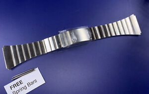 """NEW Old Stock Vintage SEIKO 6 1/2-6"""" Men's Watch Band 24mm Ends FreeSpringBars"""