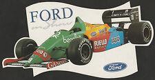 1989 BENETTON FORD B189 'FORD ON SHOW' F1 GP ORIGINAL PERIOD STICKER AUFKLEBER