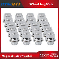 20 Chrome M12x1.5 Wheel Lug Nuts Mag Seat Washer fits for Lexus Scion  Camry US