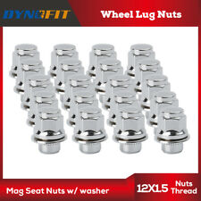 20 Chrome M12x1.5 Wheel Lug Nuts Mag Seat Washer for Lexus Scion Toyota Camry US