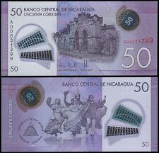 Nicaragua 50 Cordobas, 2014, P-210, UNC, Polymer