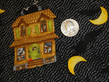 Debbie Mumm Halloween Haunted House Moon Black Cotton Quilting Fabric 1 3/4 yard