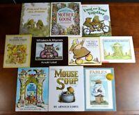Lot 10 HBPB Arnold & Anita Lobel Picture Books Frog & Toad Fables Mouse Soup L2