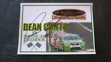 V8 SUPERCAR CHAMPION DEAN CANTO HAND SIGNED 8x11 INCH PRINT
