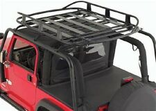 Smittybilt 97-06 Jeep Wrangler SRC Roof Rack W/ Rugged Rack Roof Basket Combo