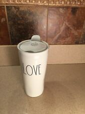 New Rae Dunn LOVE Travel Tumbler Tall Coffee Mug To Go Cup LL Large Long Letters