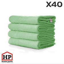 40 X Professional Washable Microfibre Cloths Extra-Large Super Thickness Green