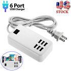 Multi+Port+USB+Charger+6+Ports+Adapter+Travel+Hub+AC+Power+Supply+US+Plug