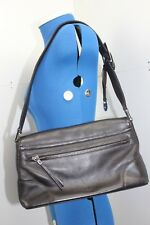 TULA BROWN LEATHER HANDBAG VINTAGE TULA BROWN NAPPA LEATHER STRAP BAG