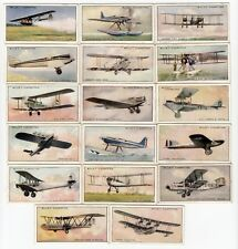 17 Vintage Airplane Cards from 1930 OPEL GLIDER DORNIER DO. X DE HAVILLAND ++++