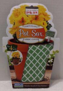 """Stretchable Pot Sox Fabric Cover Fits 4"""" Pots"""