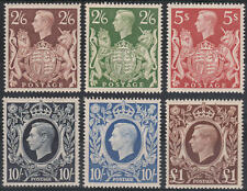 1939-48 SG476/478c VERY FINE VERY LIGHTLY HINGED MINT SET OF 6 HIGH VALUES
