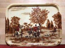 Plate vintage years 60,70' fiber glass, pattern chasse a courre