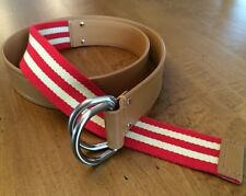 Women's Sz M Talbots Leather/Web Belt, Made in Italy - New w/ Tags! $49.50