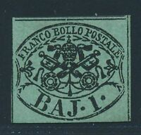 PAPAL STATE 1852, Mi. 2 b */MH, very fresh and fine, Sass. 2 a, 1200,--!!