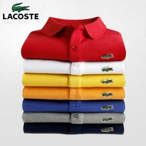 Lacoste- High Quality Brand Polo Shirt Short Sleeve Classic Homme Clothing