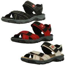 Sandali e scarpe casual nero Rieker per il mare da donna