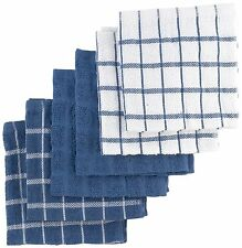 Ritz 6-Pack Terry Cotton Dish Cloths, Federal Blue , New, Free Shipping