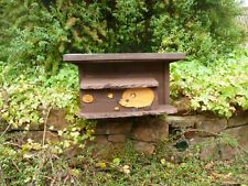 More details for wooden hedgehog house/ hibernation nesting box with tunnel