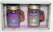 Mason Craft & More 4Oz. Salt And Pepper Jars Set Rainbow Americana Vintagr Style