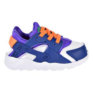 Nike Huarache Run Todder's Shoes White/Cone/Gym Blue 704950-111