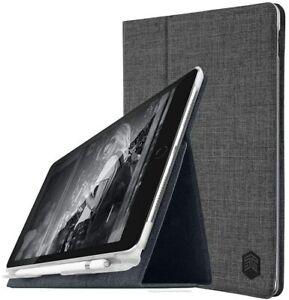 "STM Slim Folio Case iPad Pro 12.9"" 2018 3rd Gen GREY Pencil Charge AUS Seller"