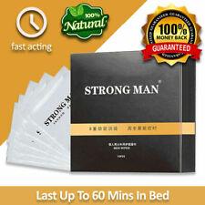 NEW Strong Man Natural Premature Ejaculation Sexual Delay Wipes - 10 pcs