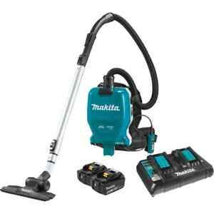 Makita Backpack Dry Vacuum Kit 18-Volt X2 Brushless Cordless 1/2 Gal HEPA Filter