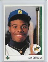 1989 Upper Deck Ken Griffey JR RC #1 NICE Seattle Mariners Junior HOF GOAT
