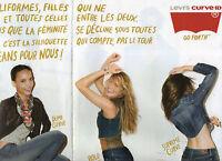Publicité Advertising 2011  (2 PAGES)  LEVI'S CURVE ID pret à porter mode
