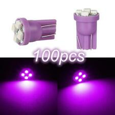100 T10 Bright Purple 4-LED Odometer Light Bulbs 194 168 3528 SMD Instrument
