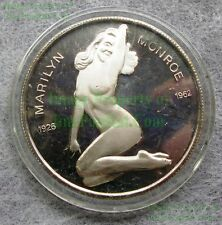 Marilyn Monroe Troy Oz Fine Silver Collector Coin 1926-1962 Nude Playboy Risque