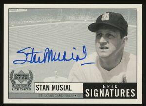 1999 Upper Deck Century Legends Epic Signatures Stan Musial HOF AUTO